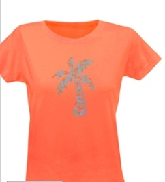 Ladies Go2Girl Tee-Papaya
